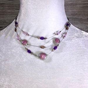 Jewelry - Purple Layered Statement Necklace
